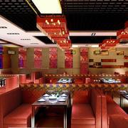 中式火锅店吊顶装饰