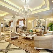 108平米欧式风格客厅装修效果图