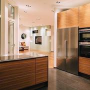 130平米简约厨房不锈钢橱柜效果图