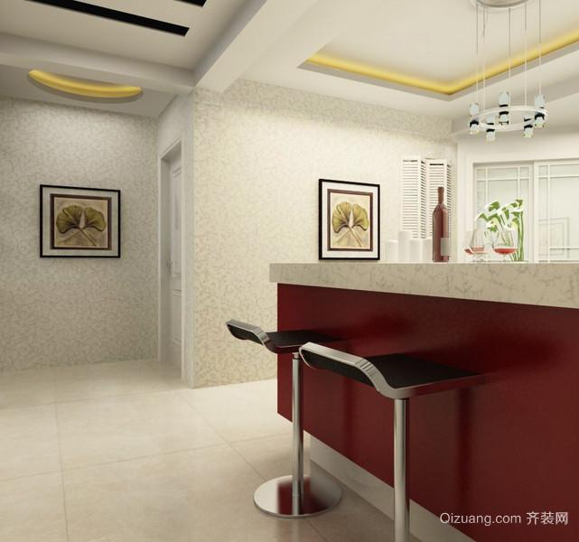 90平米大户型欧式现代吧台装修效果图鉴赏