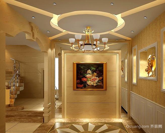 90平米现代欧式大户型走廊吊顶装修效果图