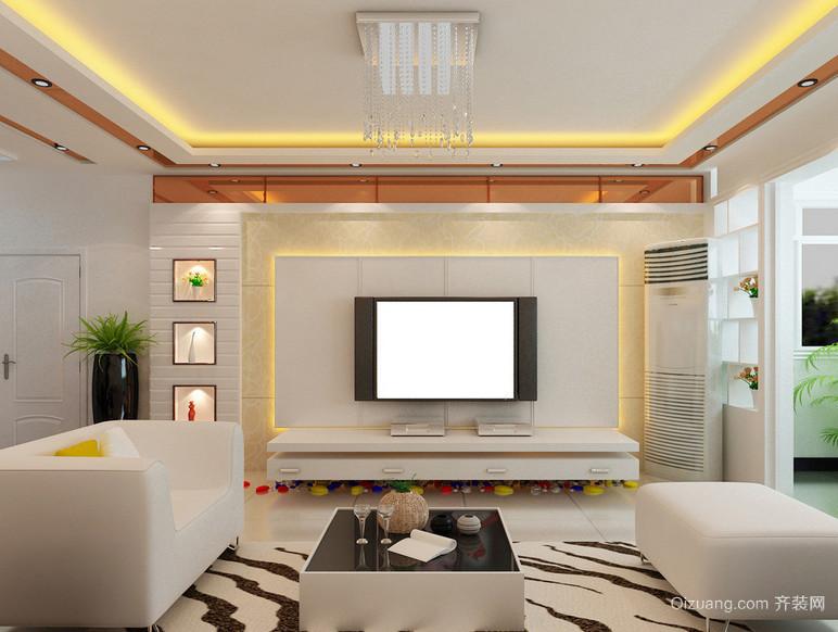 大户型欧式精致的电视墙背景装修效果图鉴赏