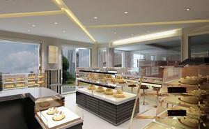 前卫都市90平米蛋糕店装修设计效果图