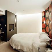 北欧风格清新商务酒店圆形卧室装修效果图