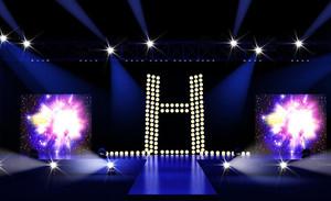精美简约小型舞台灯光设计效果图