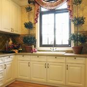 现代厨房飘窗造型图