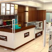 现代都市小型蛋糕店吧台装修设计效果图