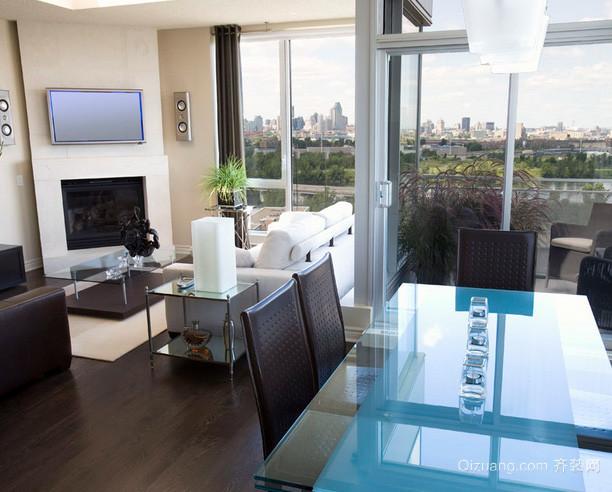 90平米现代简约风格公寓客厅装修效果图
