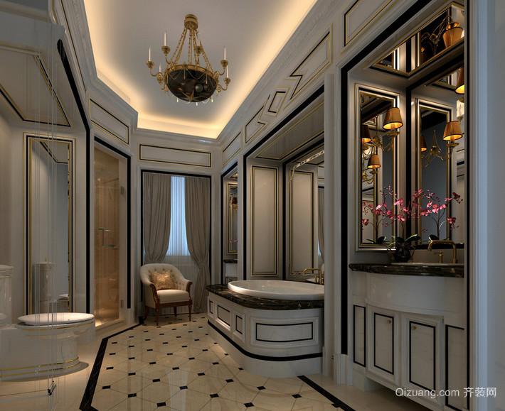 唯美的欧式大户型卫生间装修效果图鉴赏