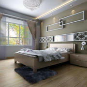 现代卧室窗帘造型图