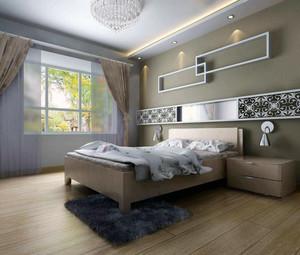 2016都市大户型欧式卧室床头背景墙装修效果图