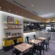 现代精致蛋糕店餐桌椅装修设计效果图