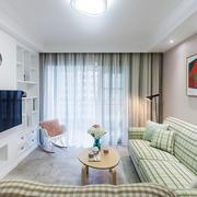 新房简约素雅小客厅