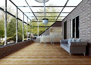 美式简约风格别墅自带阳光房装修效果图