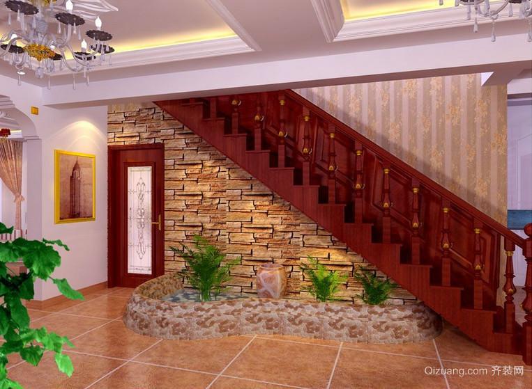 2016欧式大户型室内楼梯设计装修效果图鉴赏