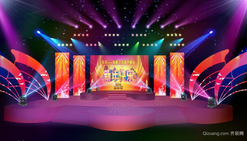 都市大公司春节晚会舞台灯光设计效果图