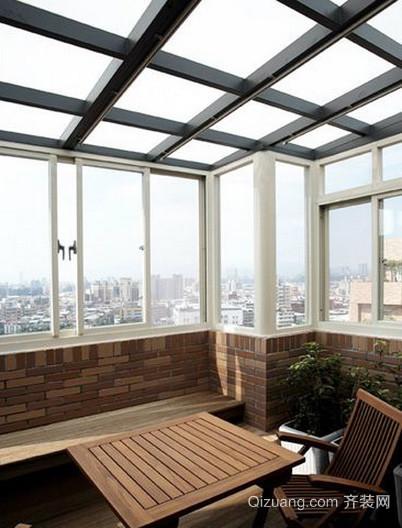 后现代风格高层小区顶端阳光房装修效果图