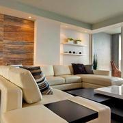 120平米港式简约风格公寓客厅装修效果图