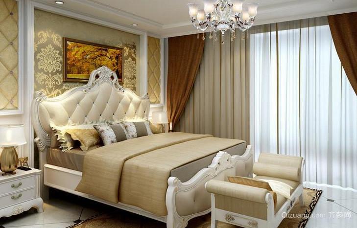 108平米欧式风格卧室装修效果图