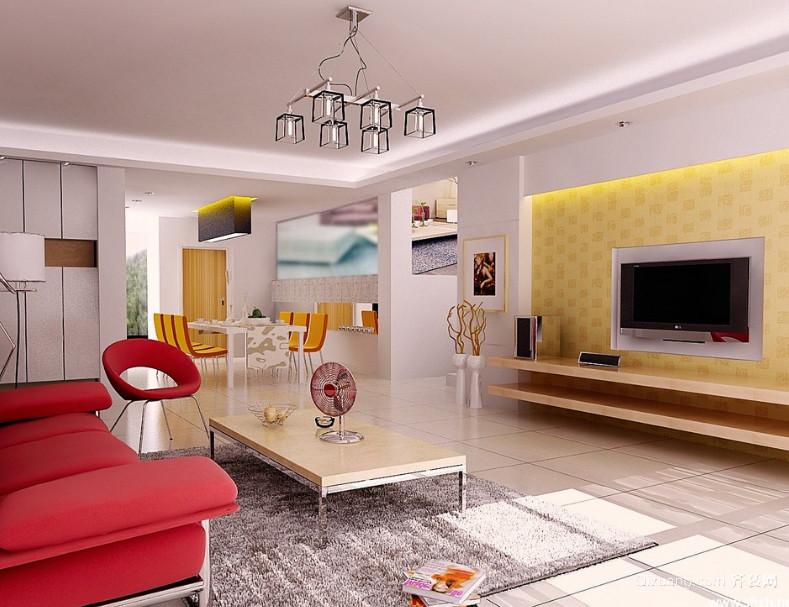 90平米大户型欧式客厅电视背景墙装修效果图