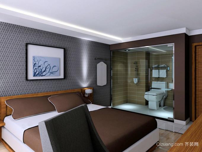 120平米中式简约风格酒店卧室装修效果图