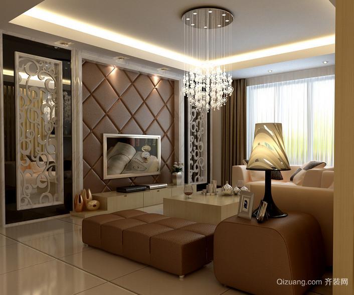 现代欧式大户型简欧风格客厅装修效果图
