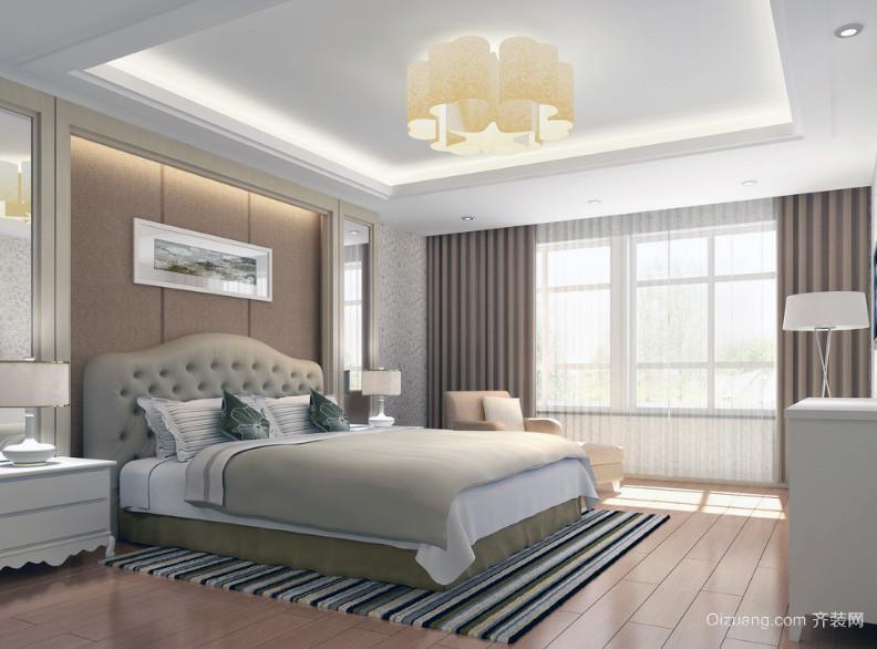 精致的90平米大户型欧式卧室背景墙装修效果图