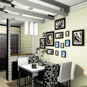 复式楼后现代风格餐厅照片墙装修效果图