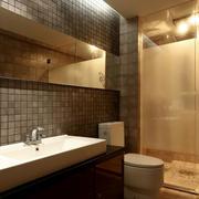 大户型日式原木卫生间装饰