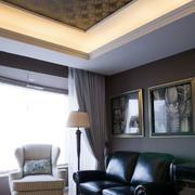 三室两厅简约客厅皮制沙发