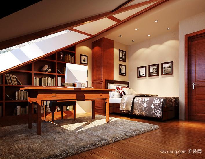 三居室唯美系列阁楼装修效果图