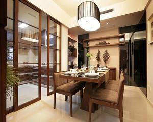 现代美式大户型新房装修效果图