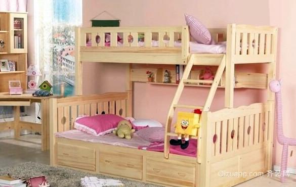 三居室实木儿童高低床效果图片