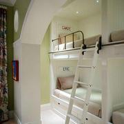 三居室简约风格儿童高低床效果图片