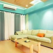 新房绿色布艺沙发