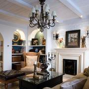 三室两厅地中海客厅吊顶装饰