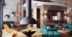 三居室时尚风格阁楼装修效果图