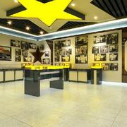 小型景点文物馆现代简约风格展台装修效果图