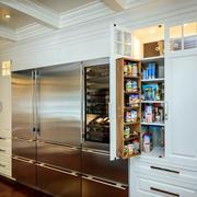 简欧式别墅厨房不锈钢橱柜效果图