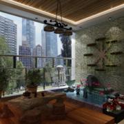 2016现代别墅型入户花园装修效果图鉴赏