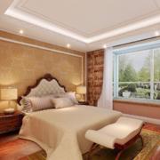 90平米大户型唯美的欧式卧室背景墙装修效果图