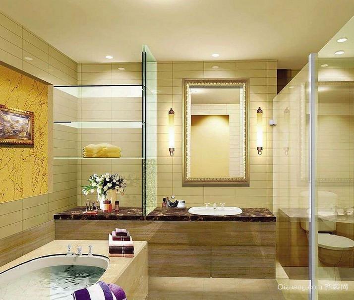 现代欧式大户型精致的洗手间装修效果图鉴赏