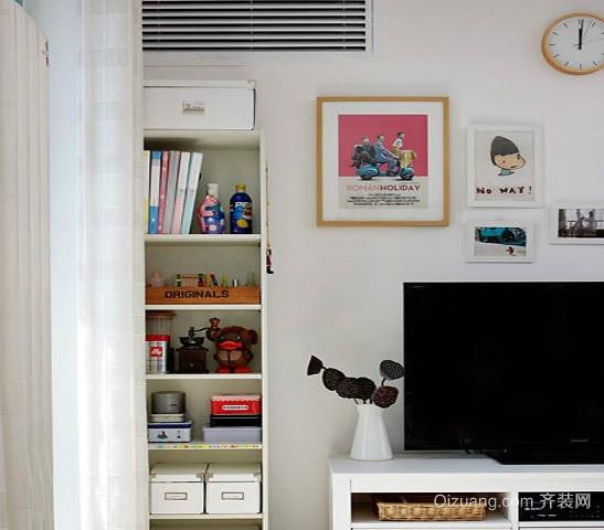 100平米现代简约风格客厅置物柜装修效果图