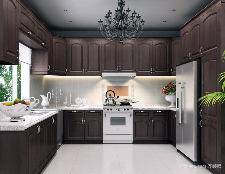 120平米大户型欧式厨房装修设计效果图鉴赏