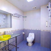 卫生间简约风格镜饰装饰