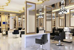 50平米都市风格美发店装修效果图