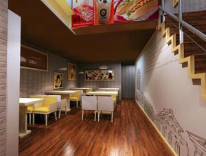 小型简约30平米冰淇淋店装修效果图