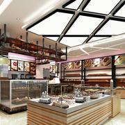 60平米蛋糕店展示柜装修设计效果图