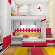 大户型时尚风格儿童高低床效果图片