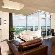 120平米都市风格高层小区公寓客厅装修效果图